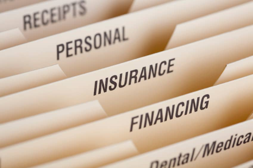 Close Up Of Folder For Household Bills